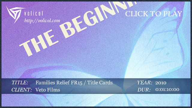 Families Relief FR 15 ~ Title Cards